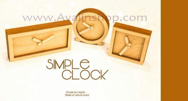 ساعت رومیزی سیمپل طرح دایره