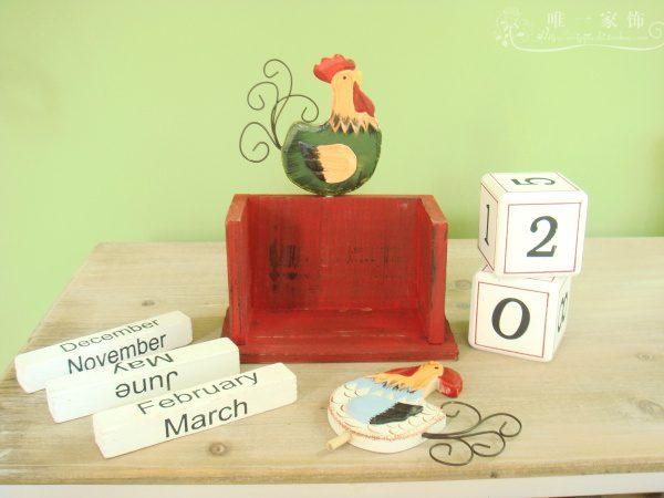 تقویم چوبی طرح خروس