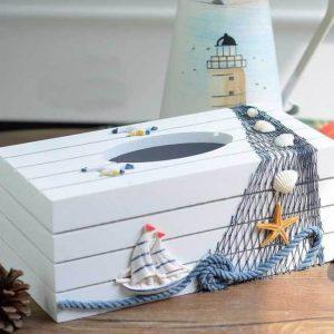 جادستمال کاغذی دریایی طرح کشتی