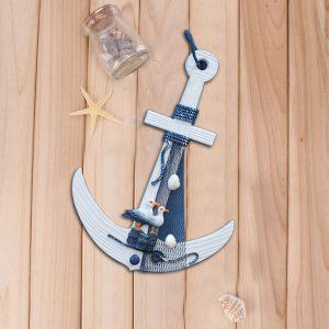 لنگر چوبی دکوری تک آویز مرغ دریایی