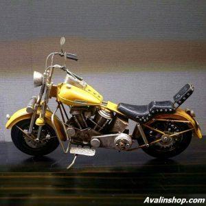 موتور هارلی دکوری و تزئینی فلزی 8487