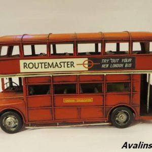 اتوبوس دوطبقه فلزی دکوری و تزئینی بزرگ