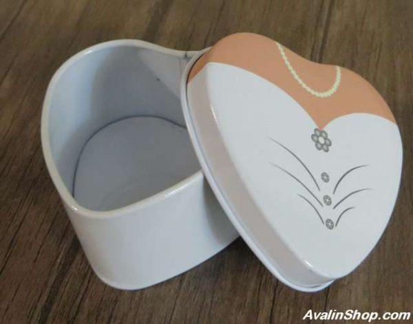 جعبه کادویی فلزی طرح قلب