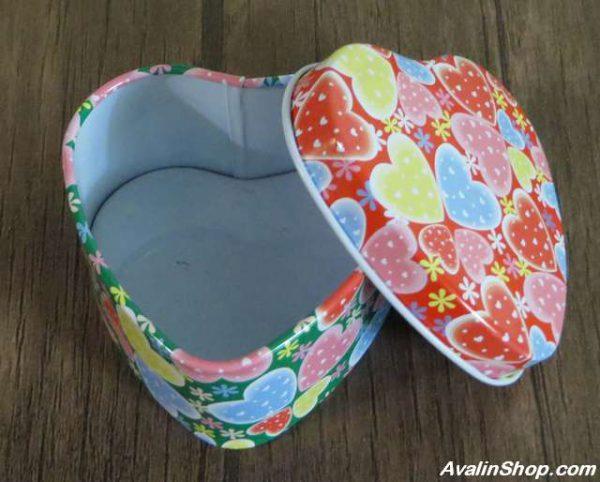 جعبه فلزی طرح قلب