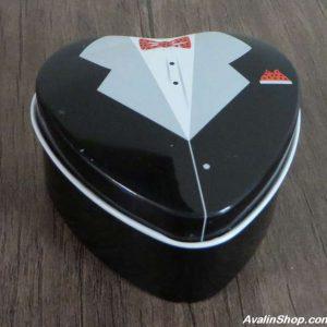 جعبه کادویی فلزی مدل قلب داماد