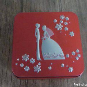 جعبه فلزی و جاجواهری عروس و داماد