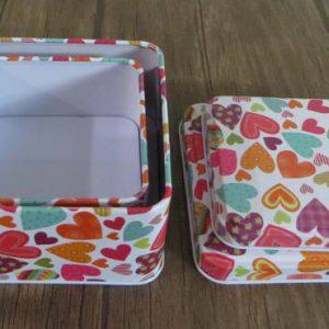 جعبه کادویی فلزی مربع