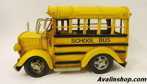 اتوبوس مدرسه فلزی دکوری و تزئینی 8458