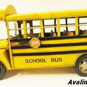 اتوبوس مدرسه فلزی دکوری و تزئینی 8545