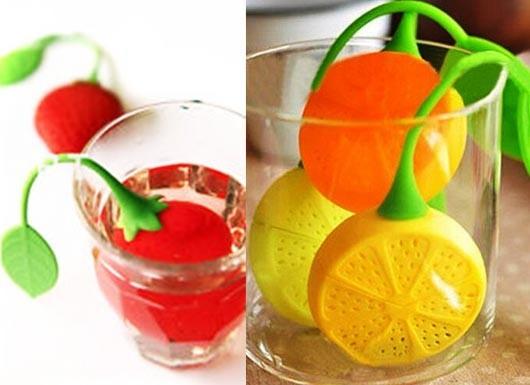 چای ساز سیلیکونی توت فرنگی و لیمو TEA INFUSER
