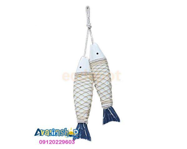 ماهی آویز چوبی