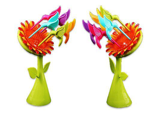 چنگال زیتون و میوه خوری گل آفتابگردان