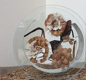 گلدان شیشه ای مدل D