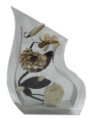 گلدان شیشه ای مدل J