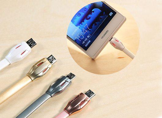 کابل سینک و شارژ LED دار REMAX