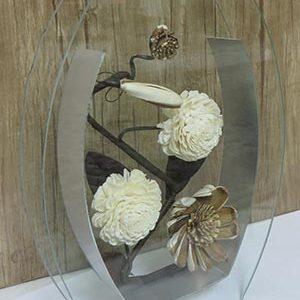 گلدان شیشه ای مدل M