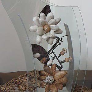 گلدان شیشه ای مدل X
