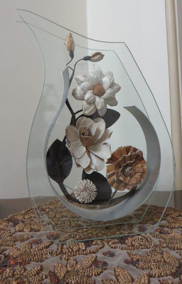 گلدان شیشه ای مدل Z